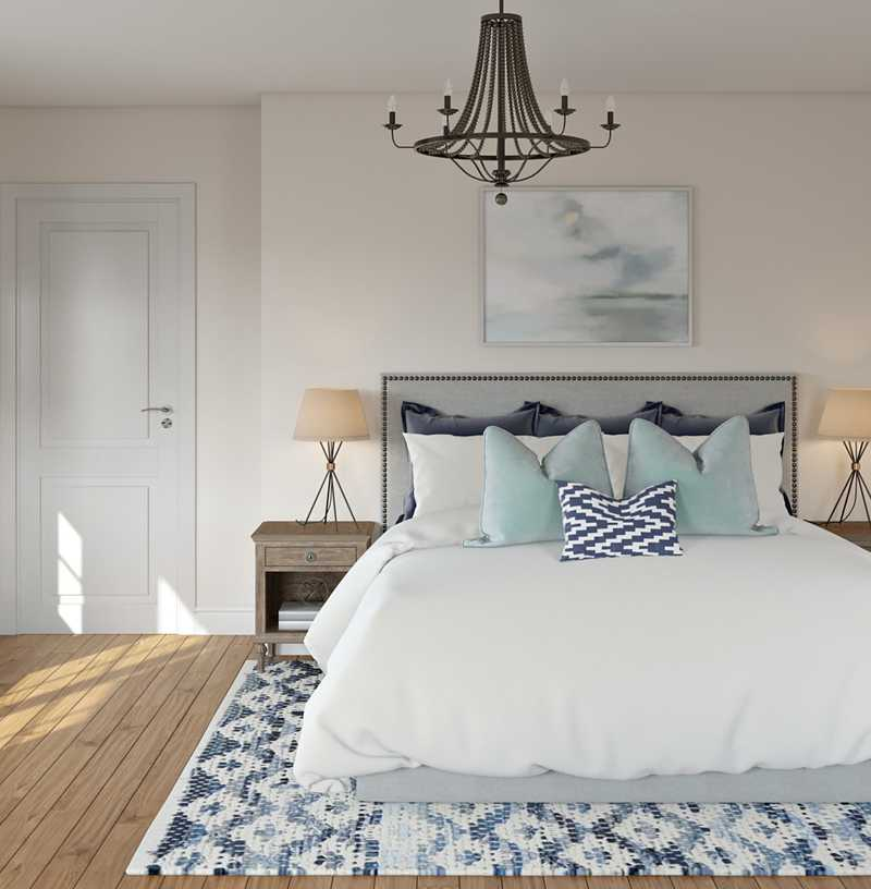 Contemporary, Coastal Bedroom Design by Havenly Interior Designer Elizabeth