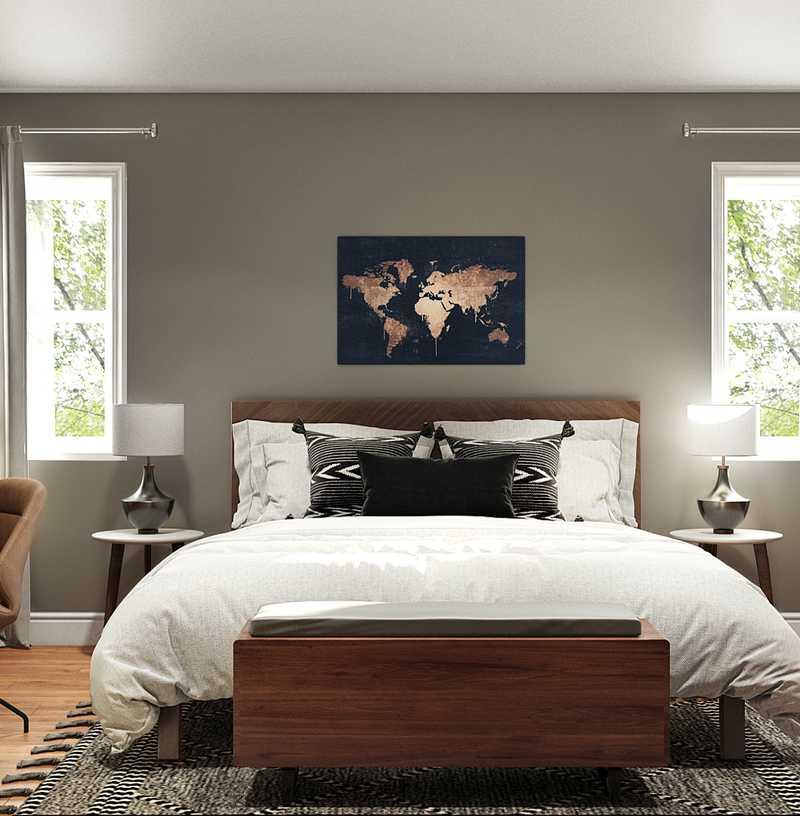 Industrial, Scandinavian Bedroom Design by Havenly Interior Designer Haley