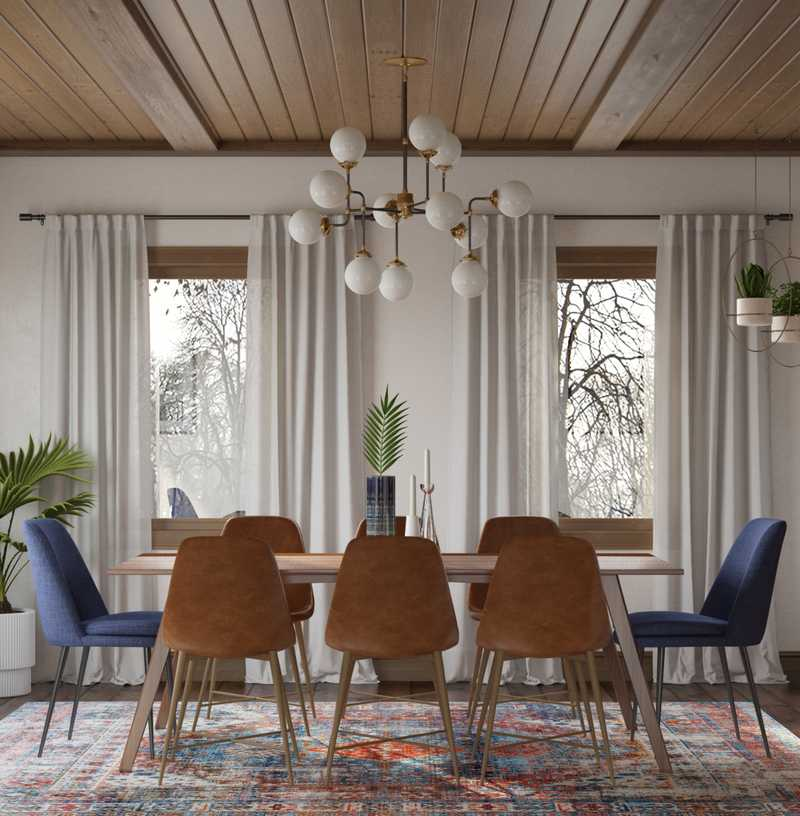 Midcentury Modern, Scandinavian Dining Room Design by Havenly Interior Designer Janice