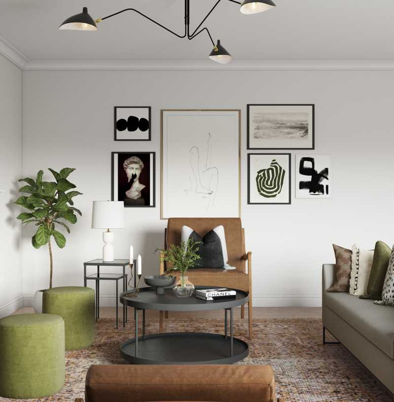 Contemporary, Modern, Eclectic, Glam, Scandinavian Living Room Design by Havenly Interior Designer Hannah