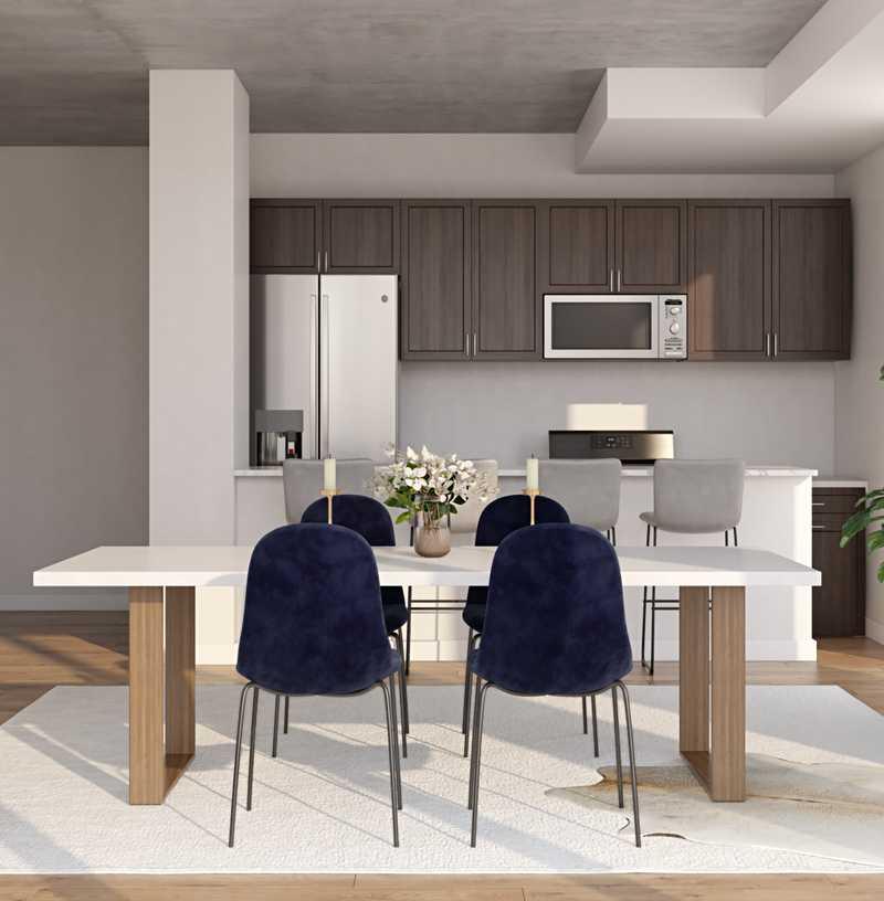 Modern, Minimal, Scandinavian Dining Room Design by Havenly Interior Designer Ellis