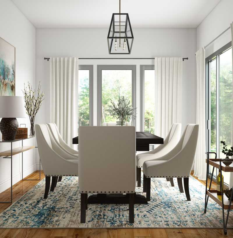 Contemporary, Modern, Bohemian Dining Room Design by Havenly Interior Designer Erin