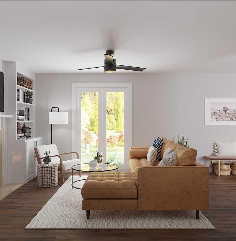 Contemporary, Bohemian Living Room Design by Havenly Interior Designer Jodi
