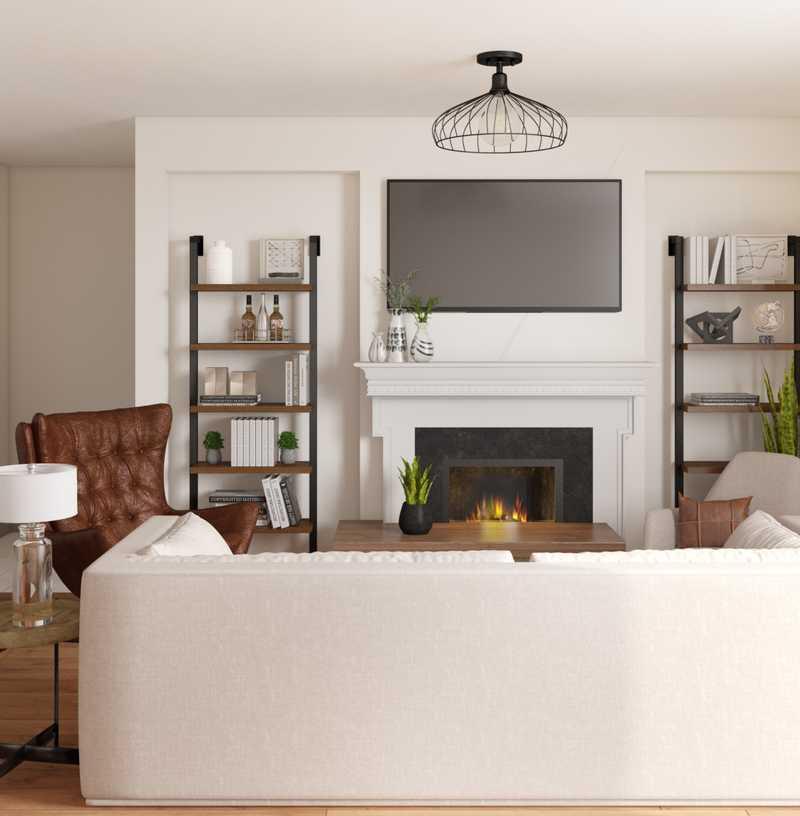 Modern, Rustic, Minimal Living Room Design by Havenly Interior Designer Vana