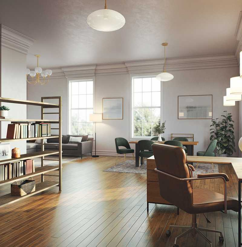 Eclectic Living Room Design by Havenly Interior Designer Emily