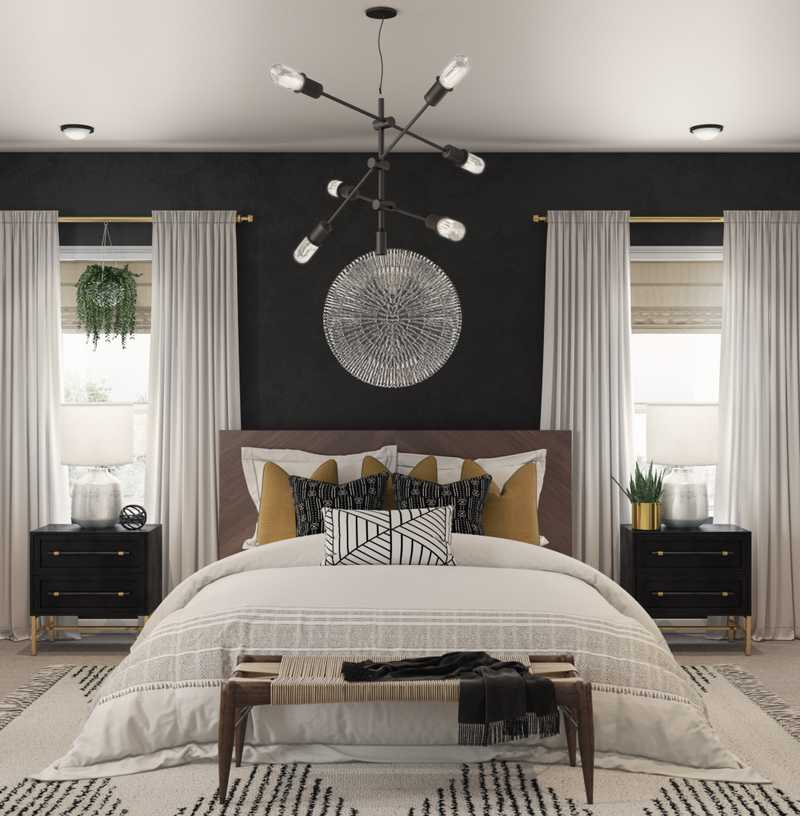 Modern, Eclectic, Bohemian, Midcentury Modern Bedroom Design by Havenly Interior Designer Danielle