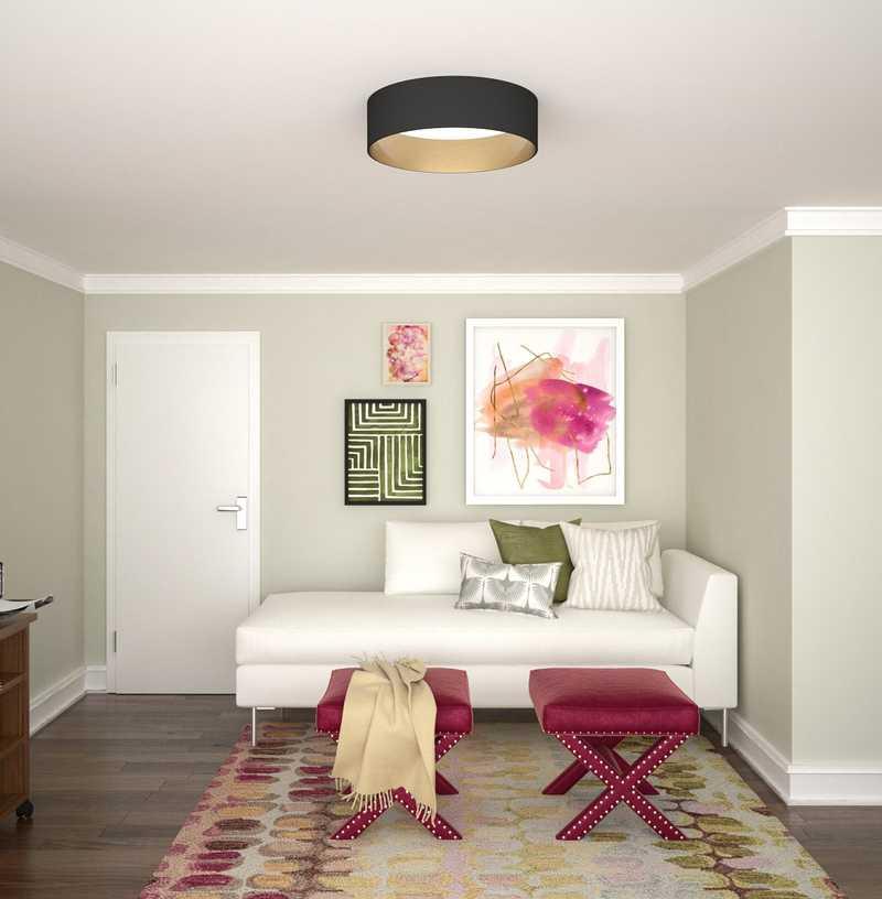 Contemporary, Eclectic, Classic Contemporary, Preppy Office Design by Havenly Interior Designer Erin