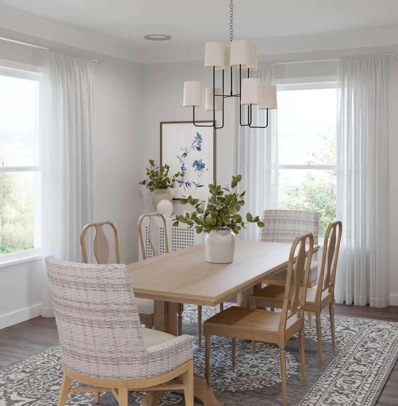 Classic, Coastal Dining Room Design by Havenly Interior Designer Kelsey