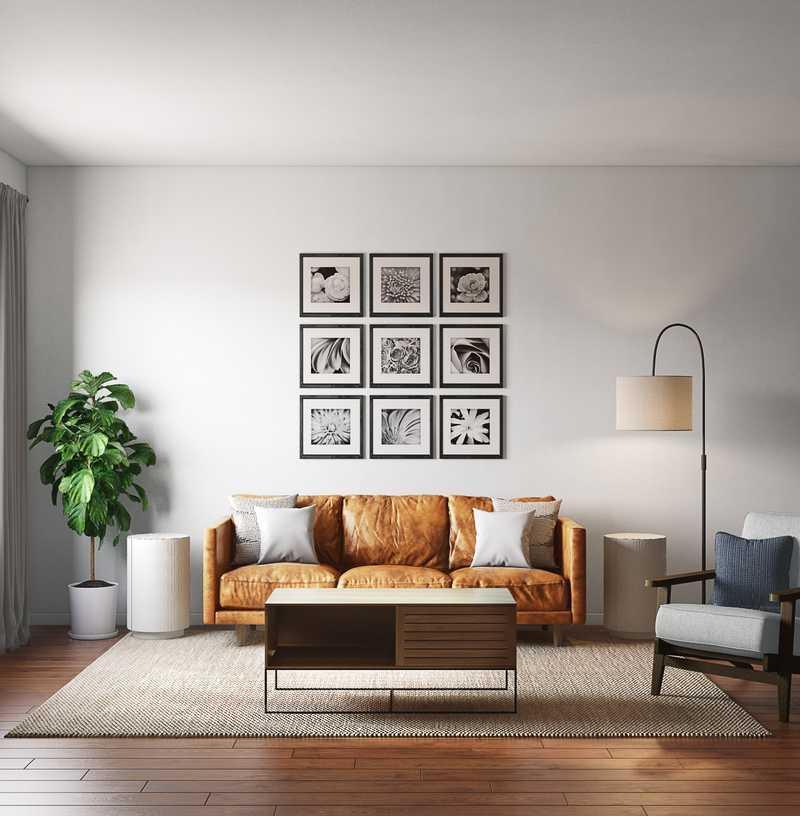 Contemporary Living Room Design by Havenly Interior Designer Anny