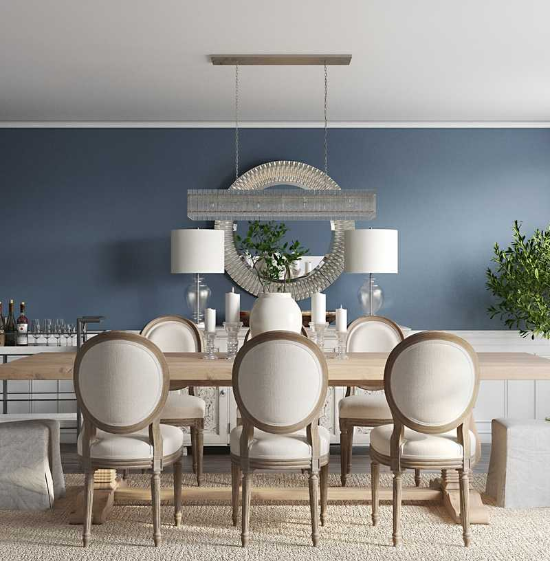 Traditional, Farmhouse Dining Room Design by Havenly Interior Designer Christine