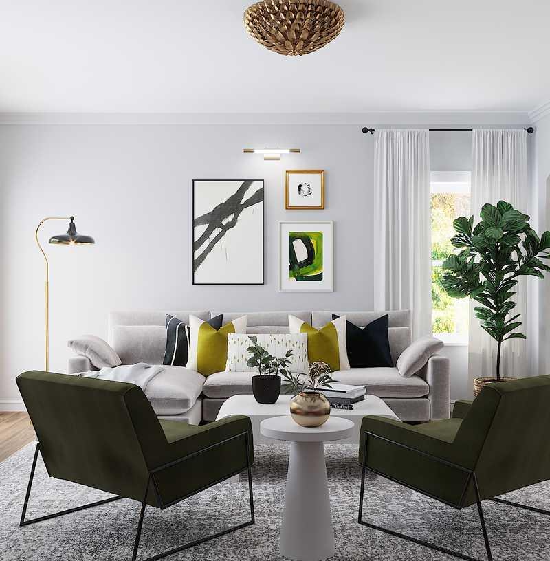 Modern Living Room Design by Havenly Interior Designer Dani
