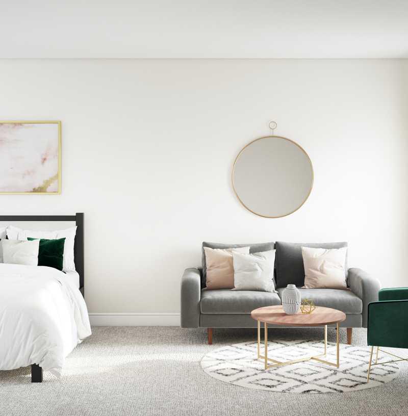 Modern, Bohemian, Midcentury Modern Bedroom Design by Havenly Interior Designer Laura
