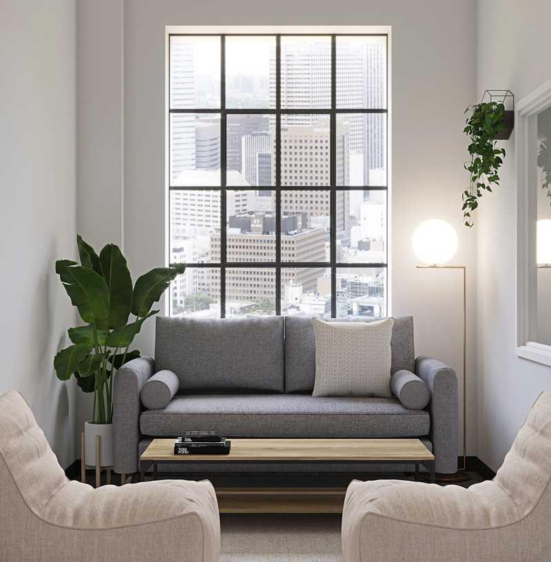 Industrial, Midcentury Modern Office Design by Havenly Interior Designer Tori