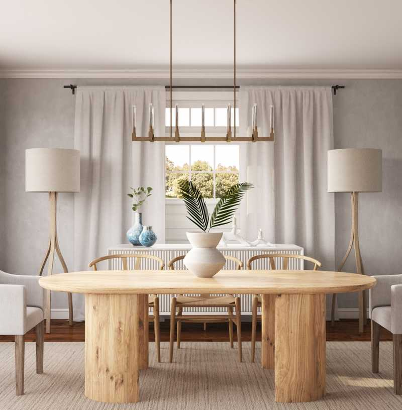Contemporary, Midcentury Modern, Scandinavian Dining Room Design by Havenly Interior Designer Amanda