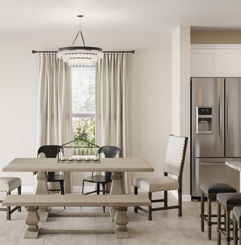 Contemporary, Modern, Glam, Farmhouse Dining Room Design by Havenly Interior Designer Sara