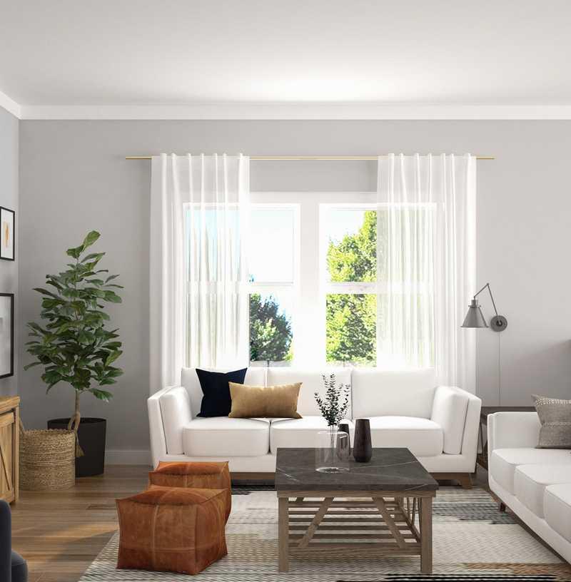 Modern, Bohemian, Midcentury Modern, Scandinavian Living Room Design by Havenly Interior Designer Brit