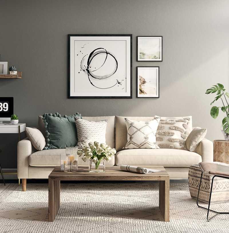 Scandinavian Living Room Design by Havenly Interior Designer Fendy