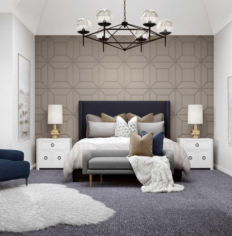 Modern, Glam Bedroom Design by Havenly Interior Designer Paulina