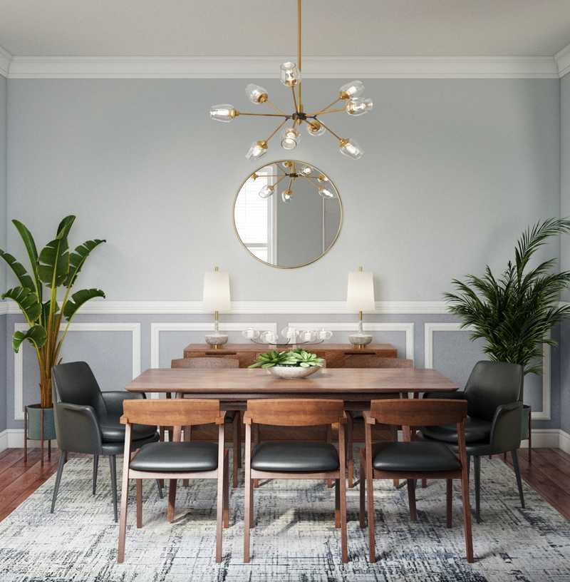 Contemporary, Modern, Midcentury Modern Dining Room Design by Havenly Interior Designer Fendy