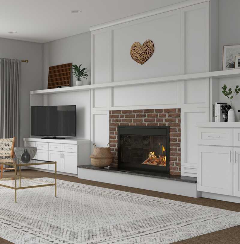 Contemporary, Bohemian Living Room Design by Havenly Interior Designer Jenette