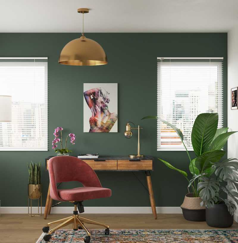 Eclectic Office Design by Havenly Interior Designer Rachel