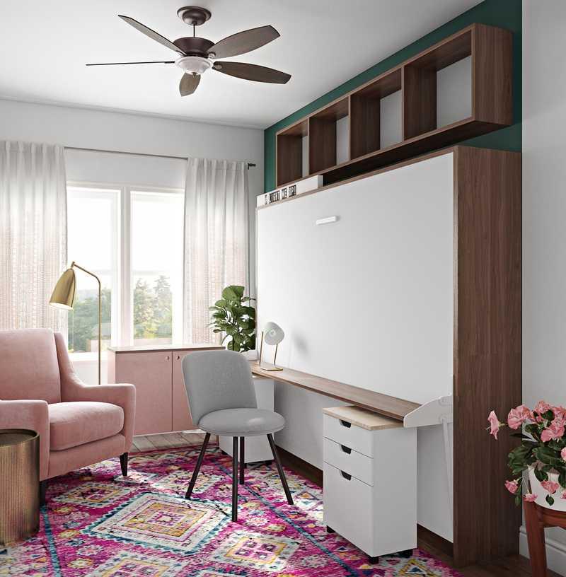 Modern, Glam, Preppy Office Design by Havenly Interior Designer Sydney