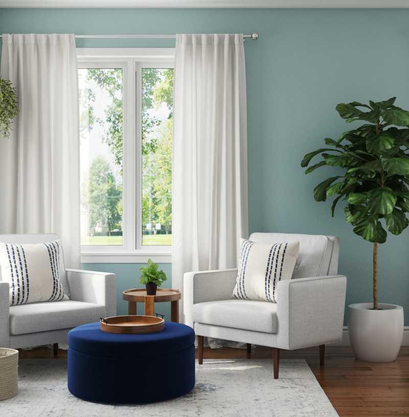 Transitional, Midcentury Modern Office Design by Havenly Interior Designer Marina