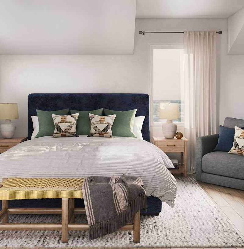 Farmhouse, Classic Contemporary Bedroom Design by Havenly Interior Designer Anny