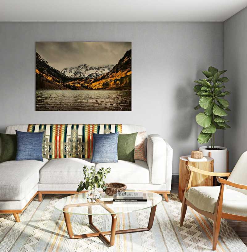 Midcentury Modern, Scandinavian Living Room Design by Havenly Interior Designer Justin