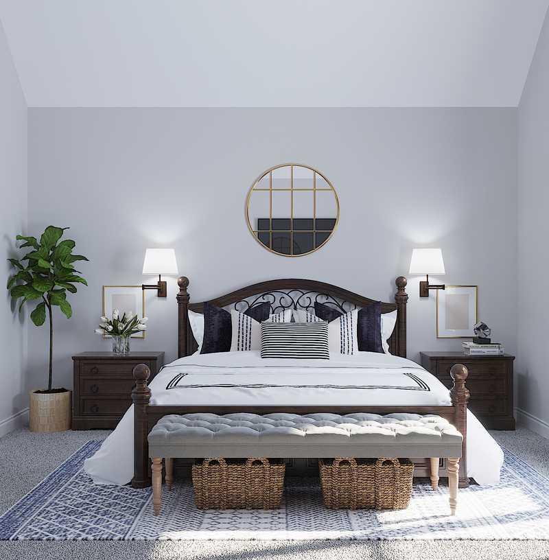 Coastal, Farmhouse, Transitional Bedroom Design by Havenly Interior Designer Julieta