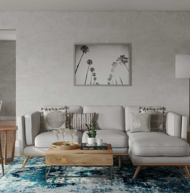 Bohemian, Midcentury Modern Living Room Design by Havenly Interior Designer Kaitlin