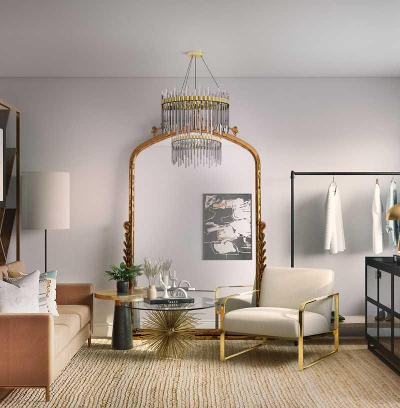 Eclectic Office Design by Havenly Interior Designer Kirsten