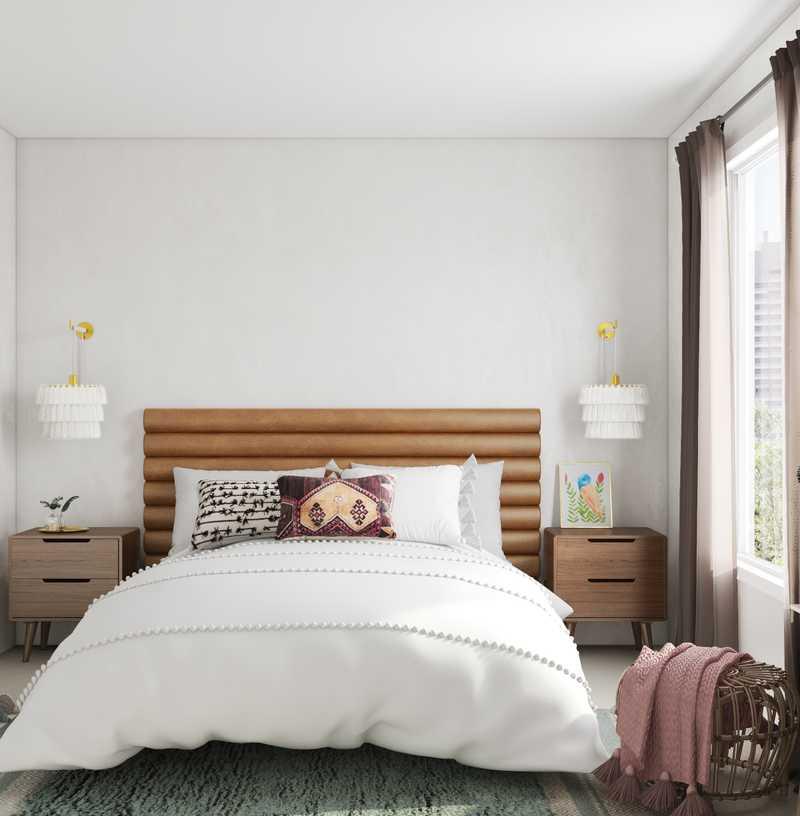 Bohemian, Midcentury Modern Bedroom Design by Havenly Interior Designer Daniela