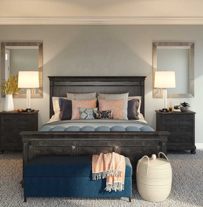 Eclectic, Rustic, Transitional Bedroom Design by Havenly Interior Designer Erica