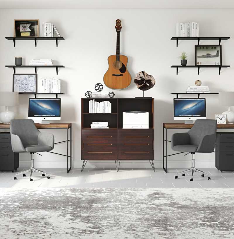 Modern, Industrial Office Design by Havenly Interior Designer Katie