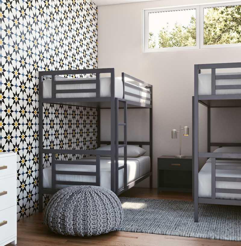 Bohemian, Midcentury Modern Nursery Design by Havenly Interior Designer Sydney