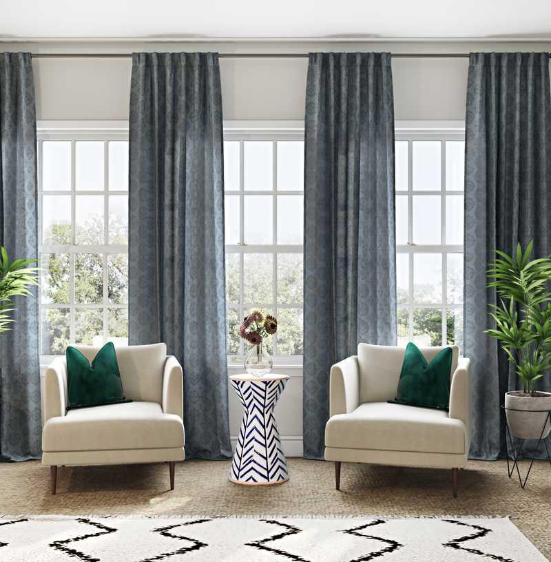Bohemian, Midcentury Modern Bedroom Design by Havenly Interior Designer Olivia