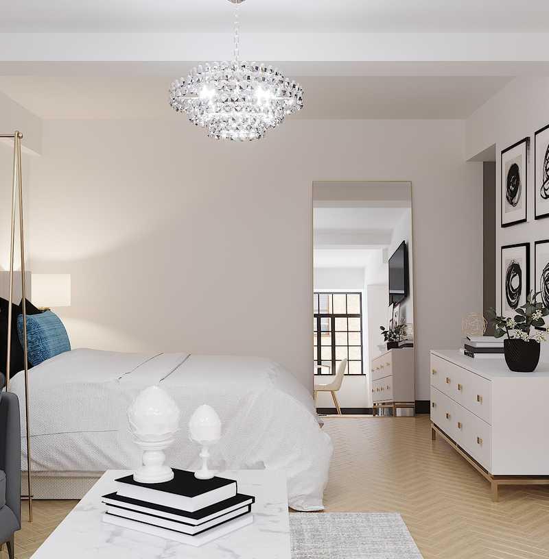 Modern, Bohemian, Glam, Preppy Living Room Design by Havenly Interior Designer Karen