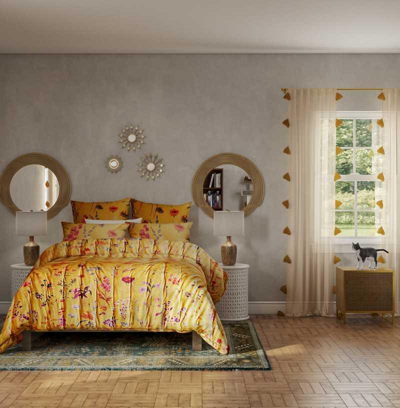 Bohemian Bedroom Design by Havenly Interior Designer Ashlyn