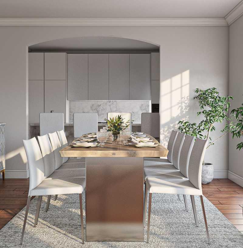 Classic, Bohemian, Coastal Dining Room Design by Havenly Interior Designer Jen