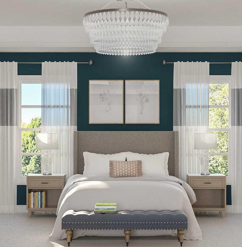 Modern, Transitional, Minimal Bedroom Design by Havenly Interior Designer Nancy