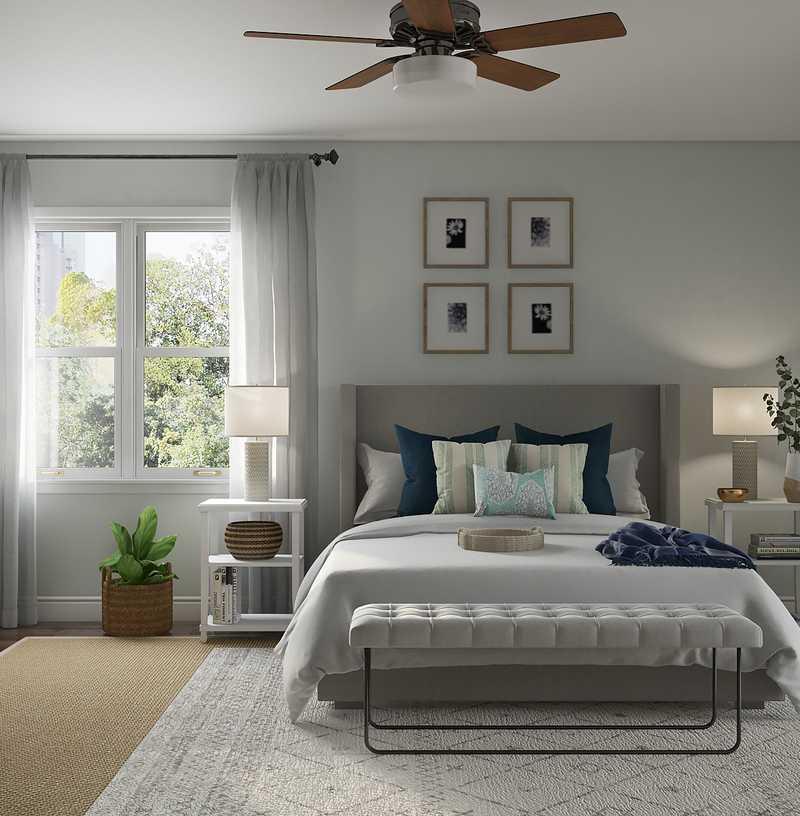 Classic, Eclectic, Coastal, Midcentury Modern Bedroom Design by Havenly Interior Designer Amanda