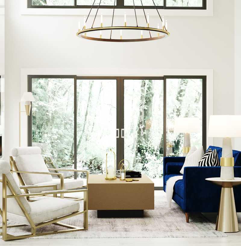 Modern, Classic, Glam Living Room Design by Havenly Interior Designer Namita