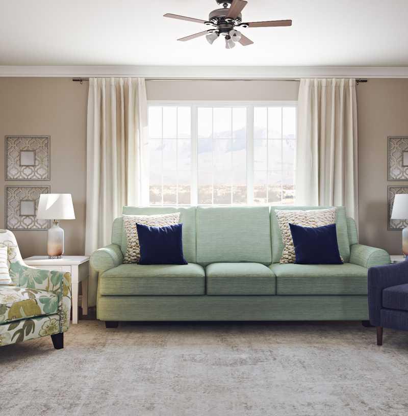 Farmhouse Living Room Design by Havenly Interior Designer Laura
