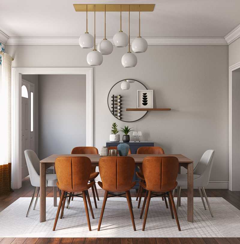 Contemporary, Modern, Eclectic, Bohemian, Midcentury Modern, Minimal Dining Room Design by Havenly Interior Designer Delaney