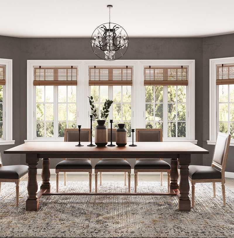 Classic, Farmhouse Dining Room Design by Havenly Interior Designer Tracie