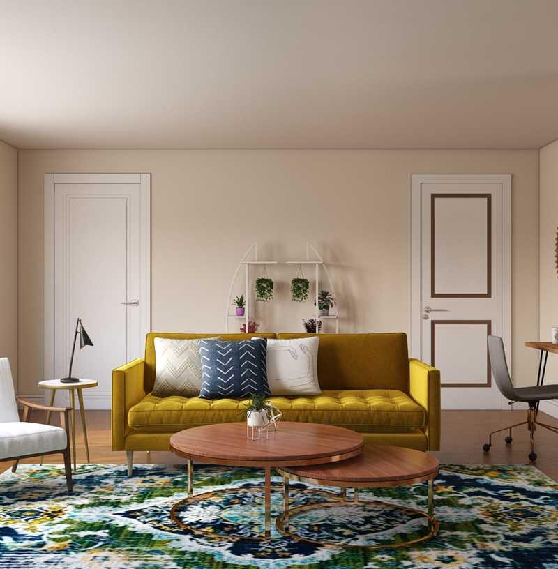 Midcentury Modern Living Room Design by Havenly Interior Designer Carissa