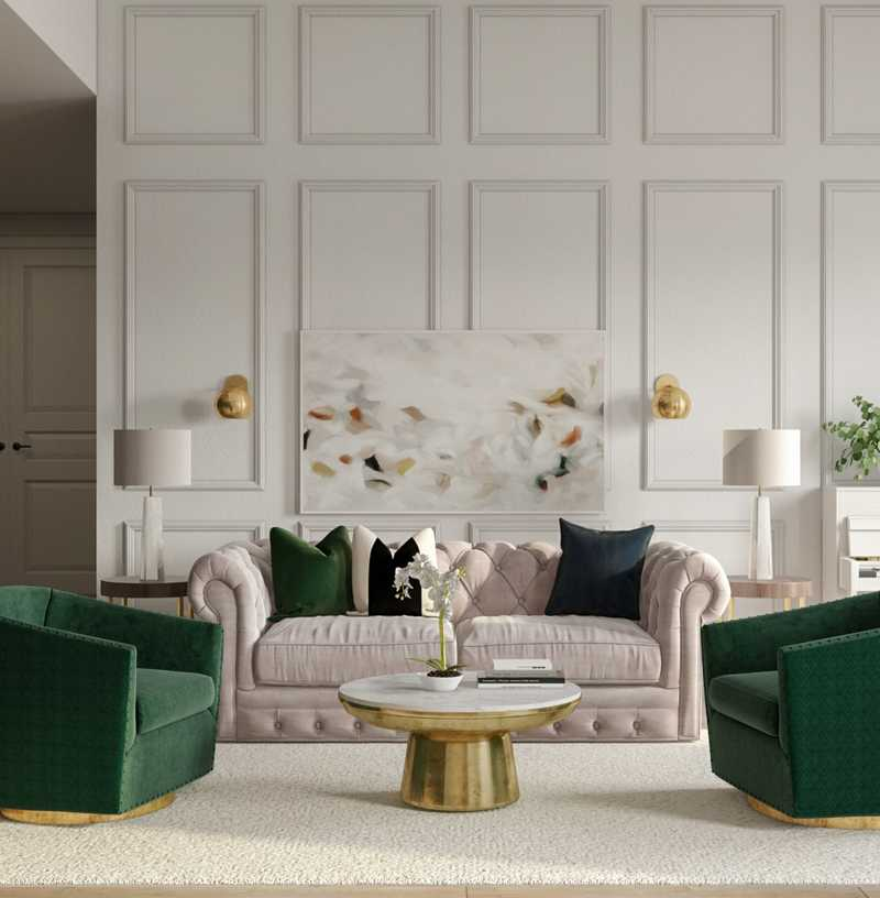 Classic Living Room Design by Havenly Interior Designer Tracie
