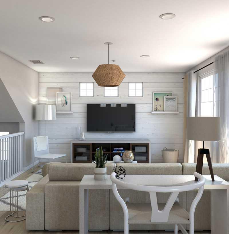 Bohemian, Midcentury Modern Living Room Design by Havenly Interior Designer Yoseika
