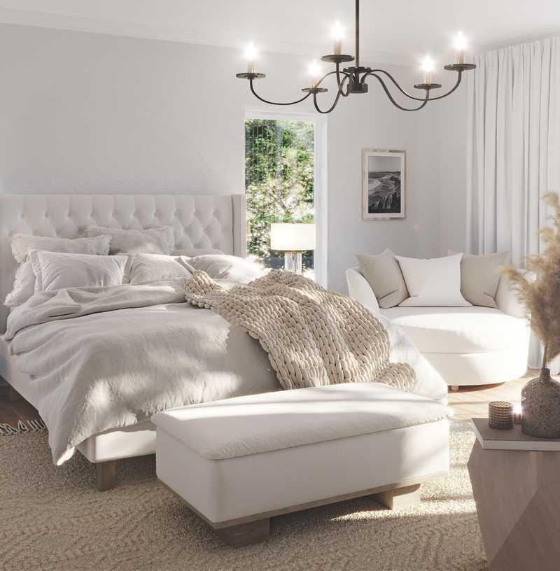 Glam, Farmhouse Bedroom Design by Havenly Interior Designer Hayley